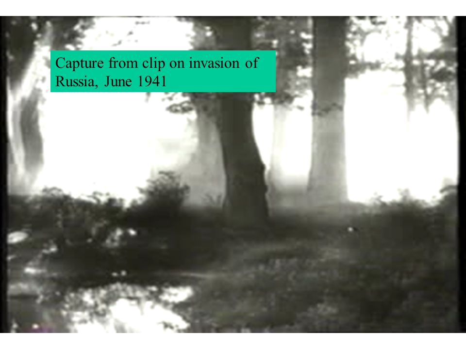 Capture from clip on invasion of Russia, June 1941