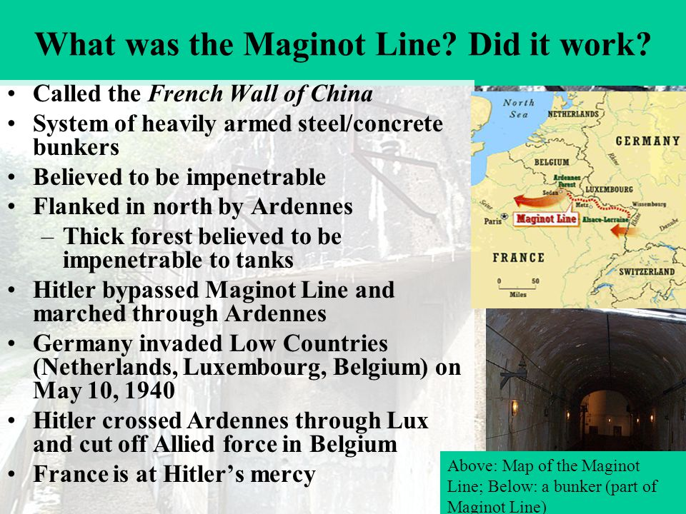 What was the Maginot Line. Did it work.