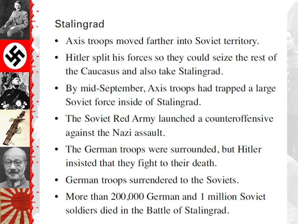 Battle of Stalingrad: Winter of 1942-1943 German ArmyRussian Army 1,011,500 men1,000,500 men 10,290 artillery guns13,541 artillery guns 675 tanks894 tanks 1,216 planes1,115 planes