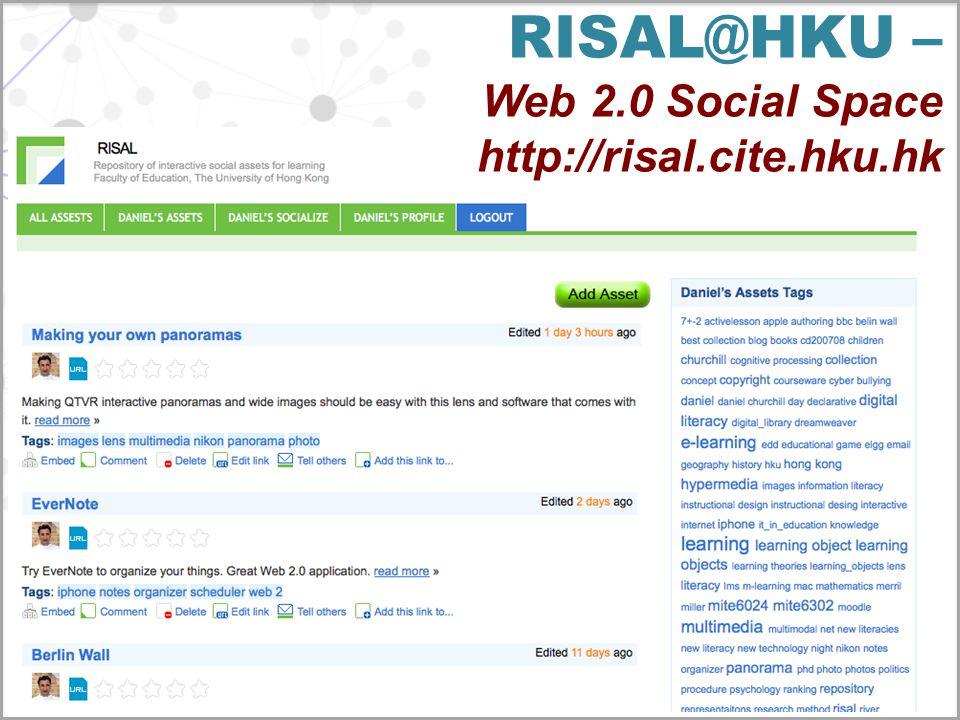 RISAL@HKU – Web 2.0 Social Space http://risal.cite.hku.hk