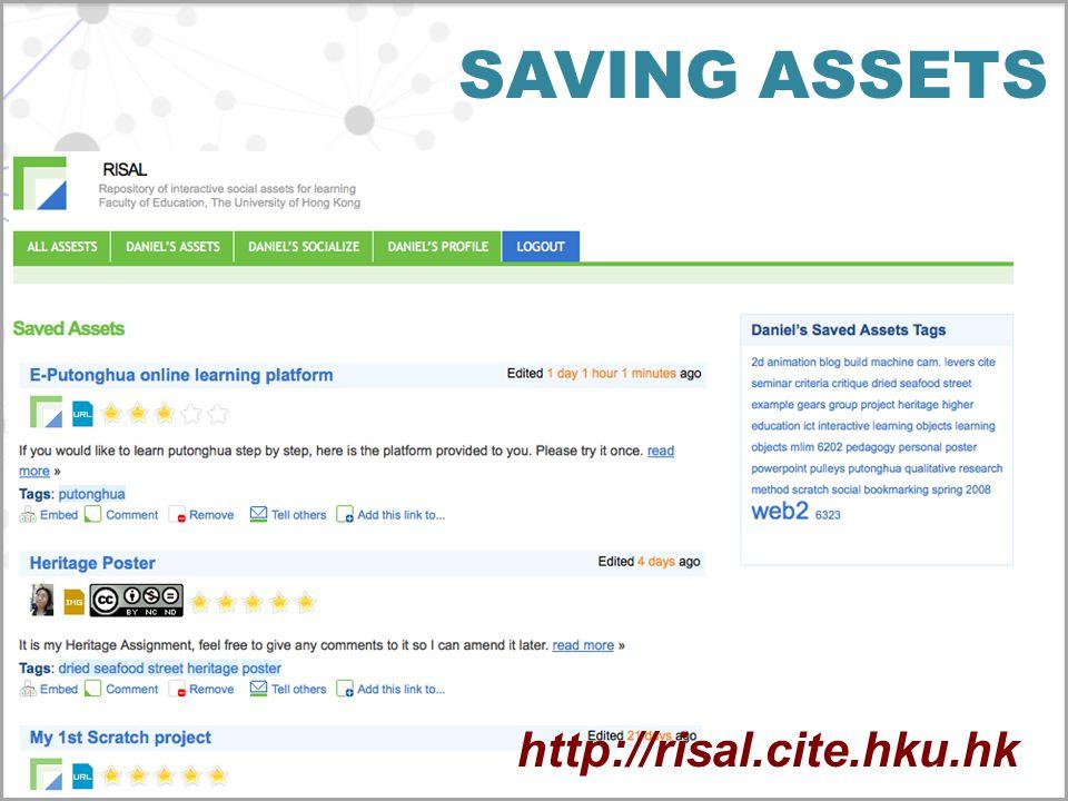 SAVING ASSETS http://risal.cite.hku.hk