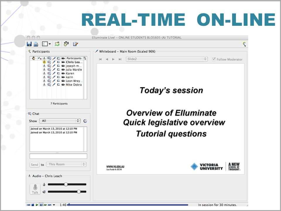 REAL-TIME ON-LINE
