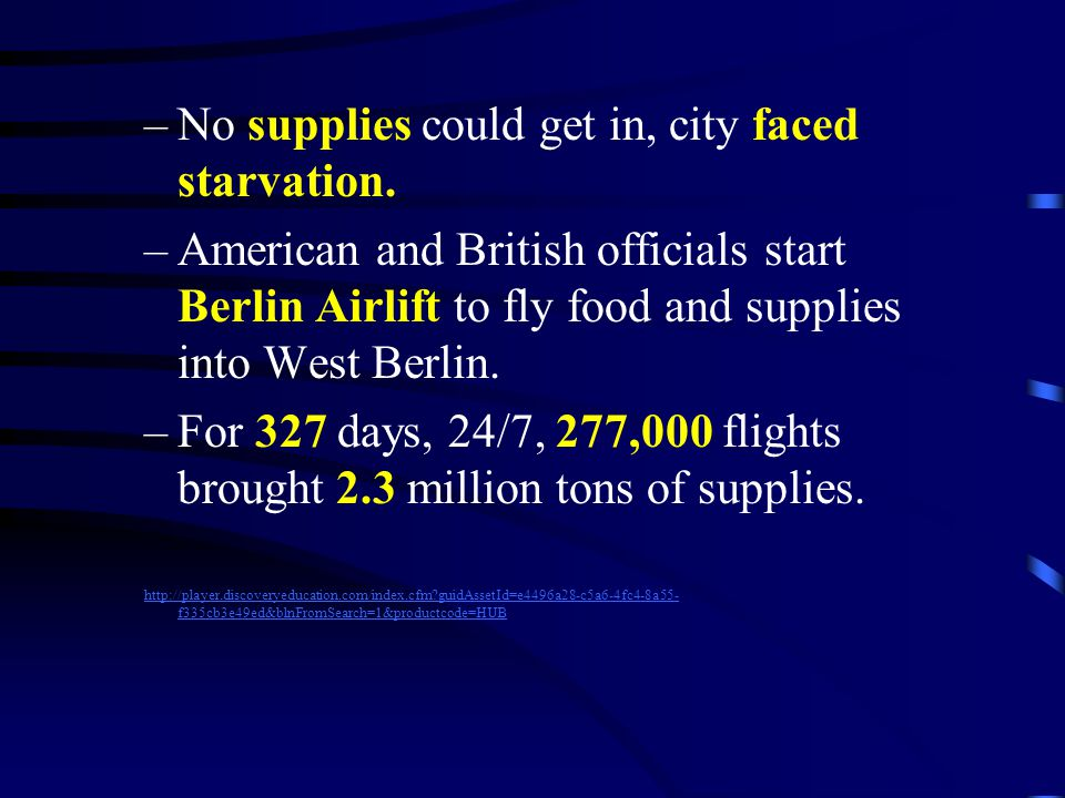 –No supplies could get in, city faced starvation.