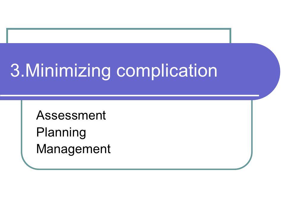 3.Minimizing complication Assessment Planning Management