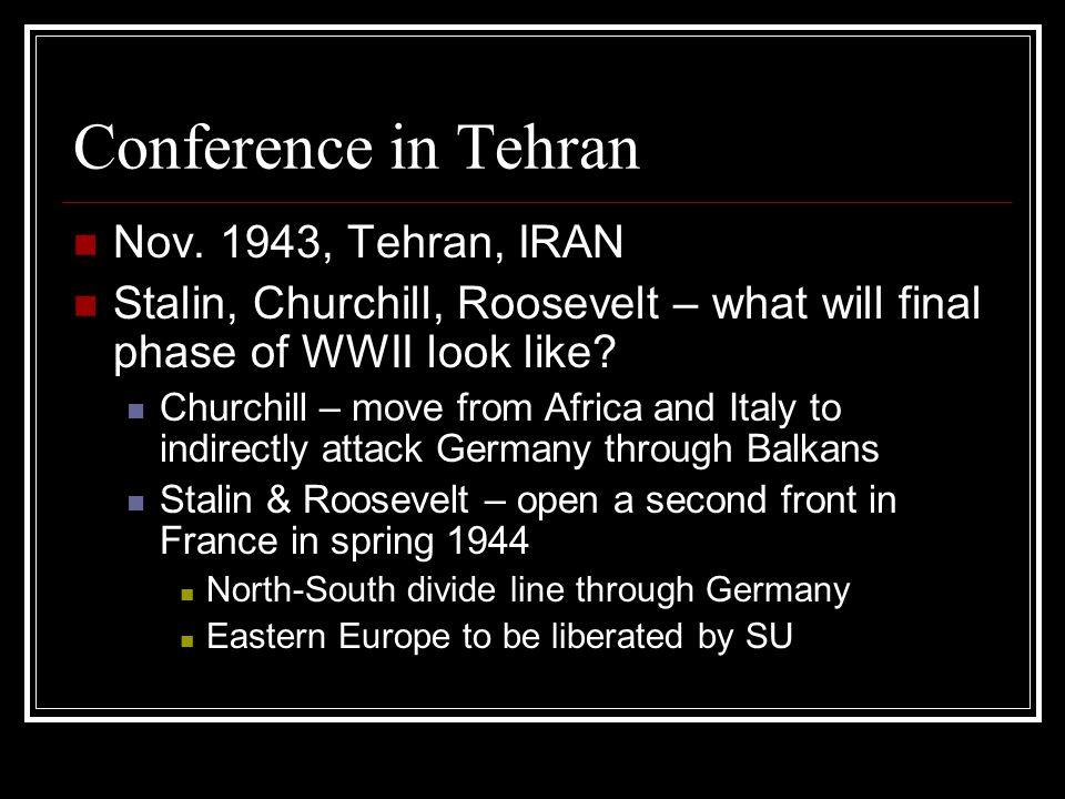Conference in Tehran Nov.