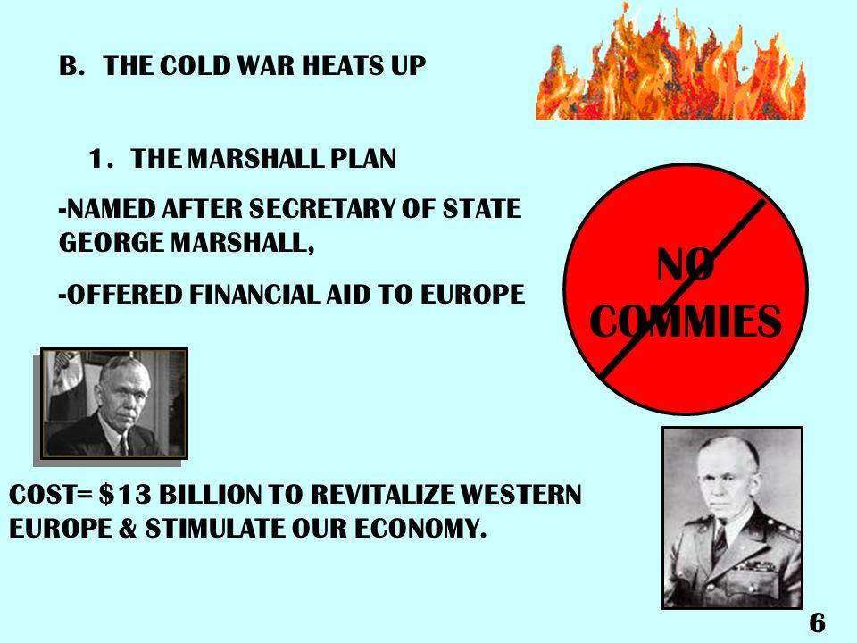 B.THE COLD WAR HEATS UP 1.