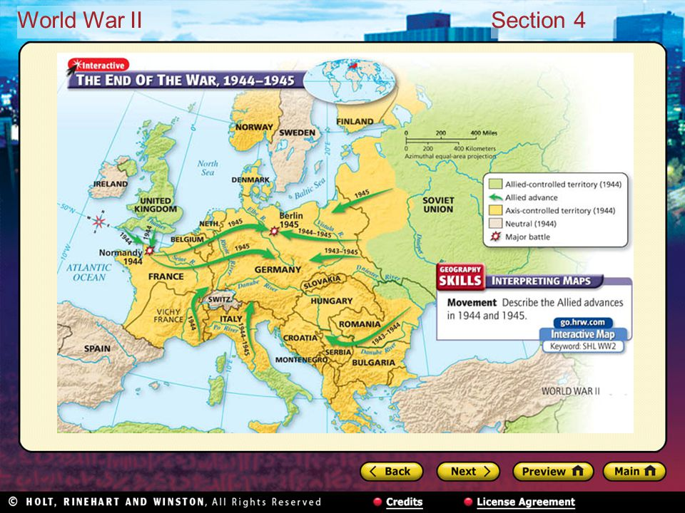 World War IISection 4 Soviets reached Berlin first Adolf Hitler found dead in bunker — a suicide Berlin surrendered May 2, 1945; Germany five days later Victory in Europe (V-E Day) proclaimed May 8, 1945 War in Europe finally over after nearly six years The Germans Surrender