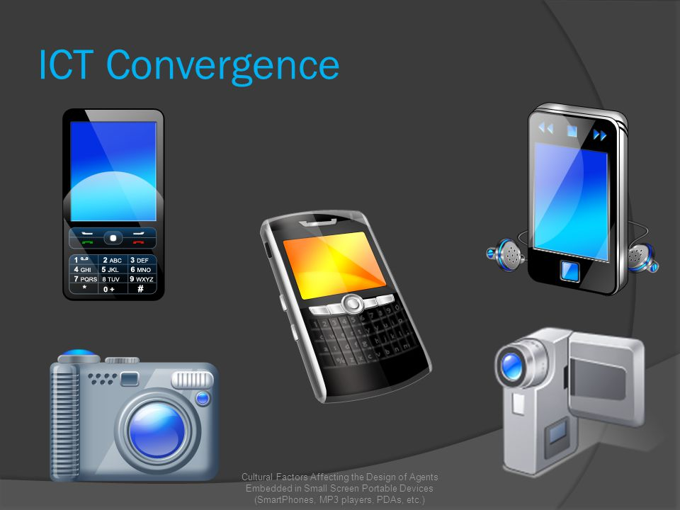 ICT Convergence Cultural Factors Affecting the Design of Agents Embedded in Small Screen Portable Devices (SmartPhones, MP3 players, PDAs, etc.)