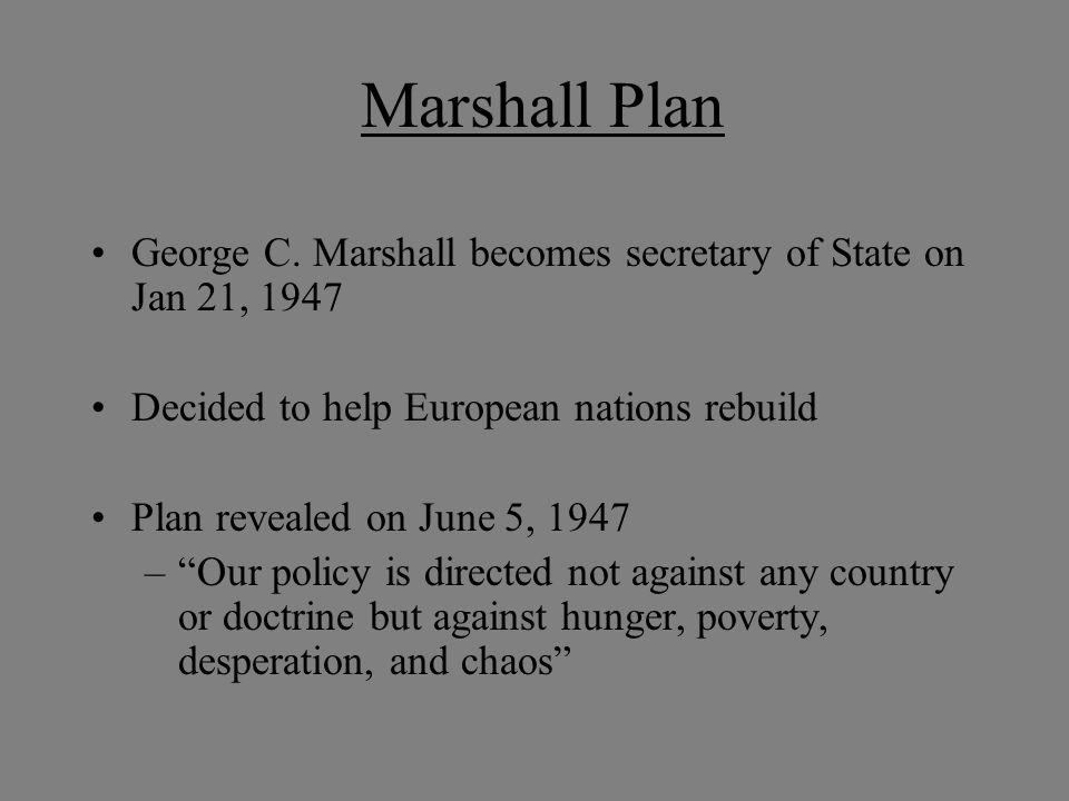 Marshall Plan George C.