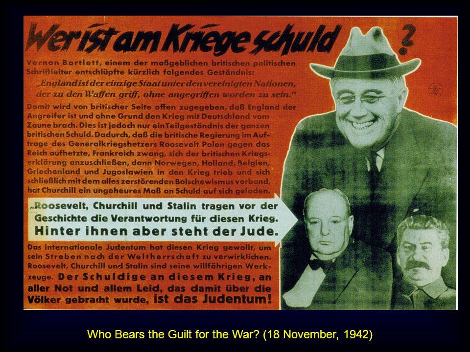 Who Bears the Guilt for the War? (18 November, 1942)