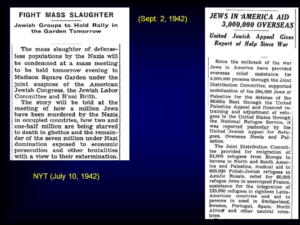 NYT (July 10, 1942) (Sept. 2, 1942)