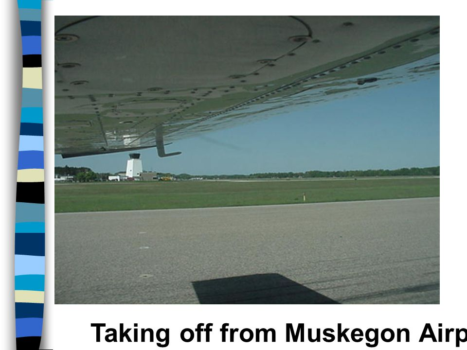 Taking off from Muskegon Airport