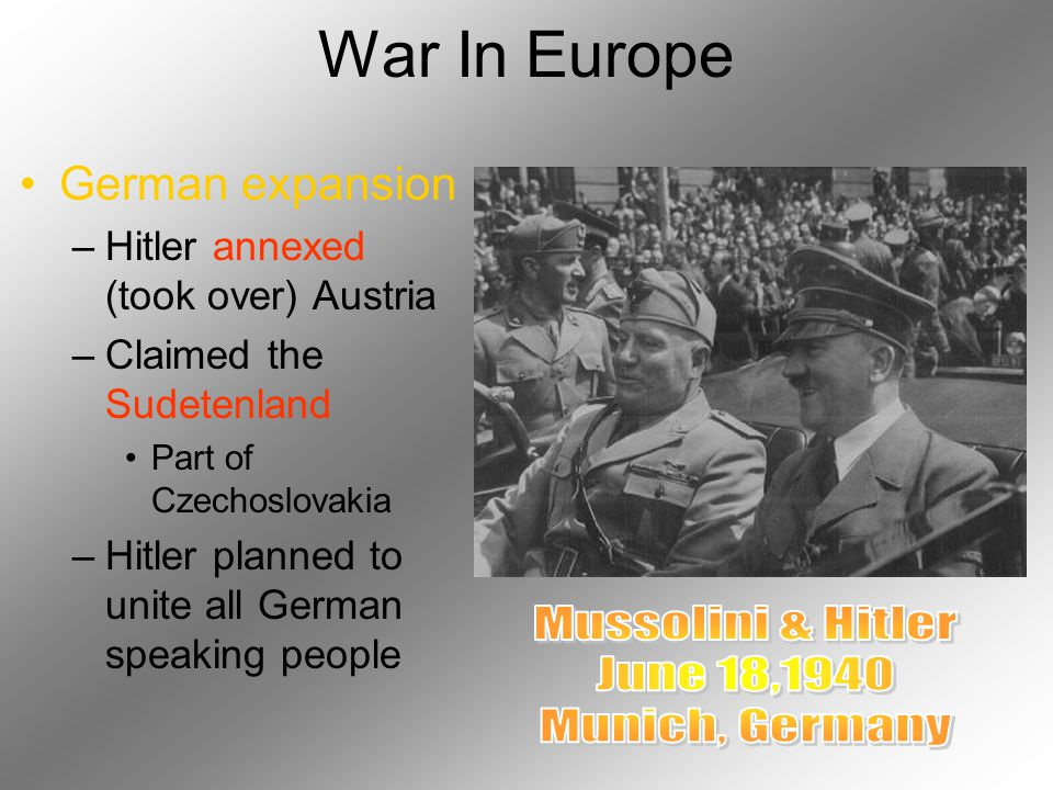Rise of Dictatorship Soviet Union –Joseph Stalin: Totalitarianism Government controls all aspects of society Italy –Benito Mussolini: Fascism Extreme