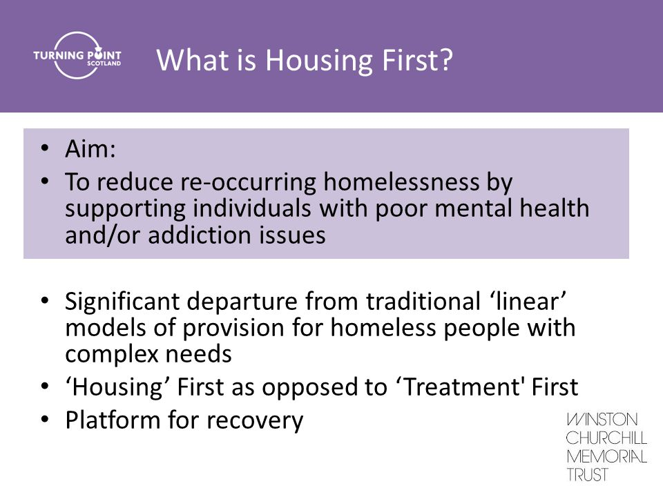 What is Housing First.