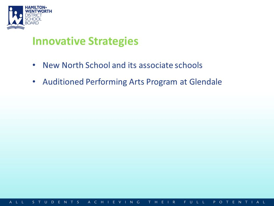 Innovative Strategies New North School and its associate schools Auditioned Performing Arts Program at Glendale