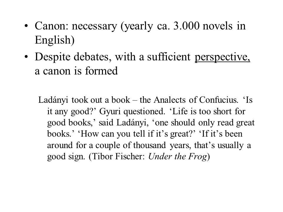 Canon: necessary (yearly ca.