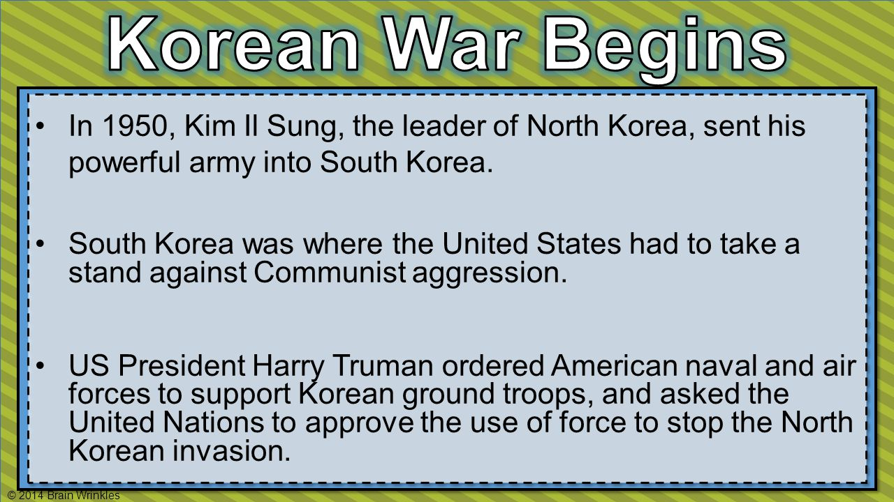 In 1950, Kim Il Sung, the leader of North Korea, sent his powerful army into South Korea.