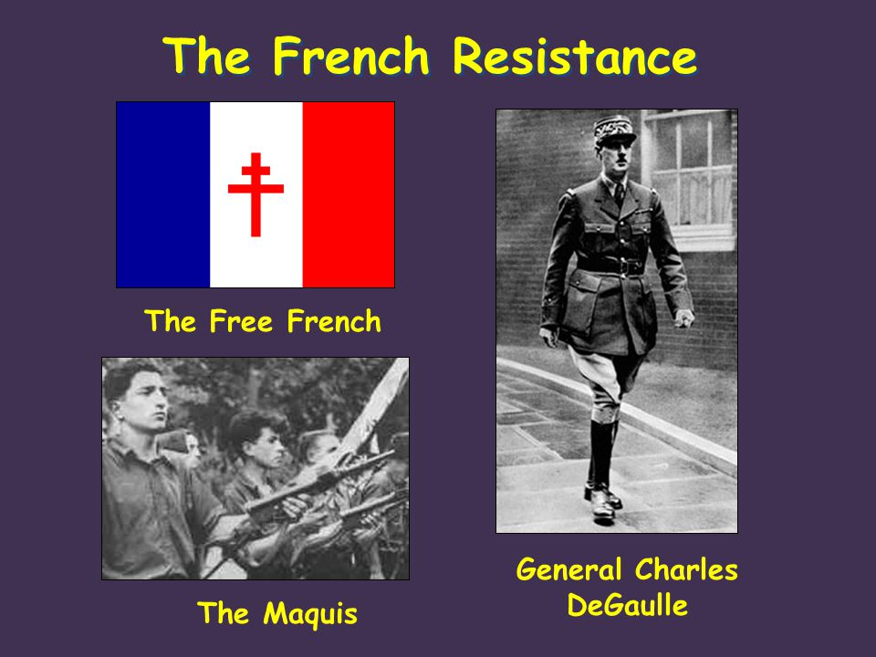 The French Resistance The Free French General Charles DeGaulle The Maquis