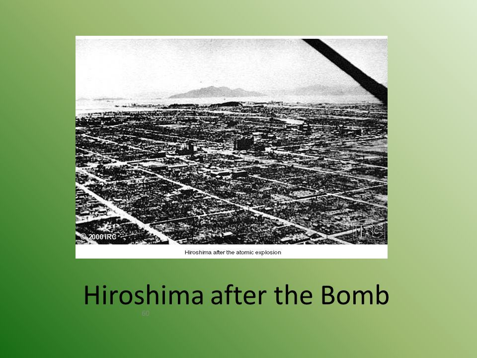 Nagasaki – August 9, 1945 © 40,000 killed immediately. © 60,000 injured. © 100,000s died of radiation poisoning & cancer later.