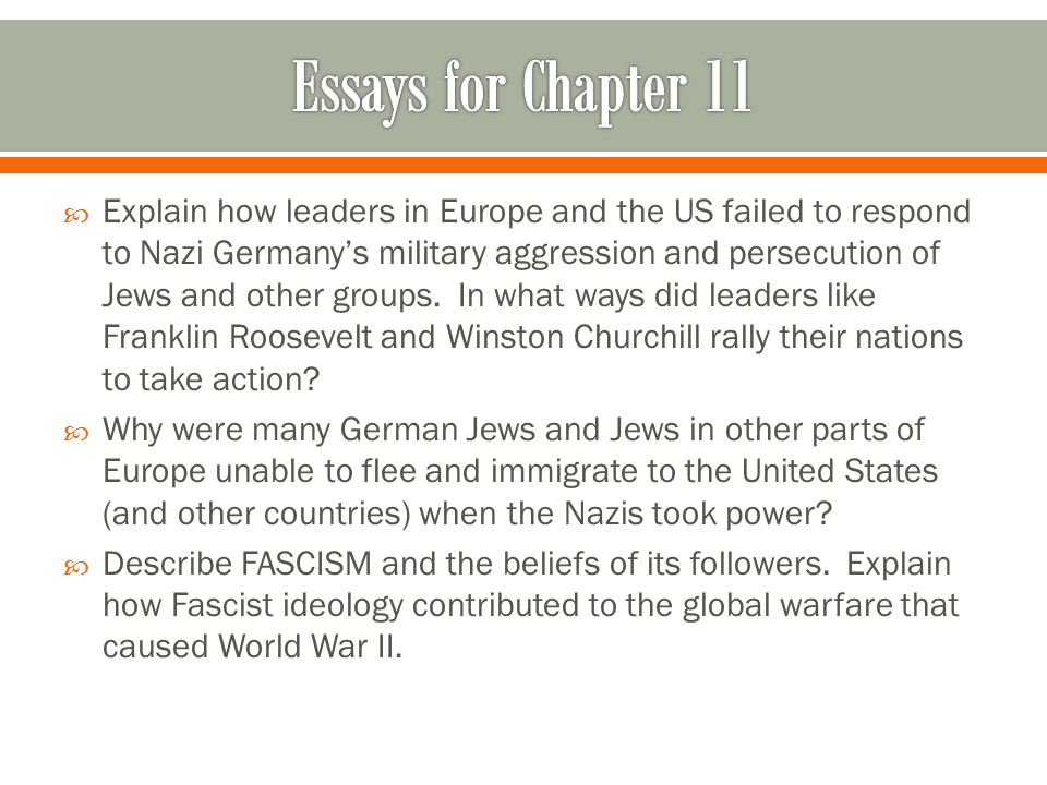  Explain how leaders in Europe and the US failed to respond to Nazi Germany's military aggression and persecution of Jews and other groups.
