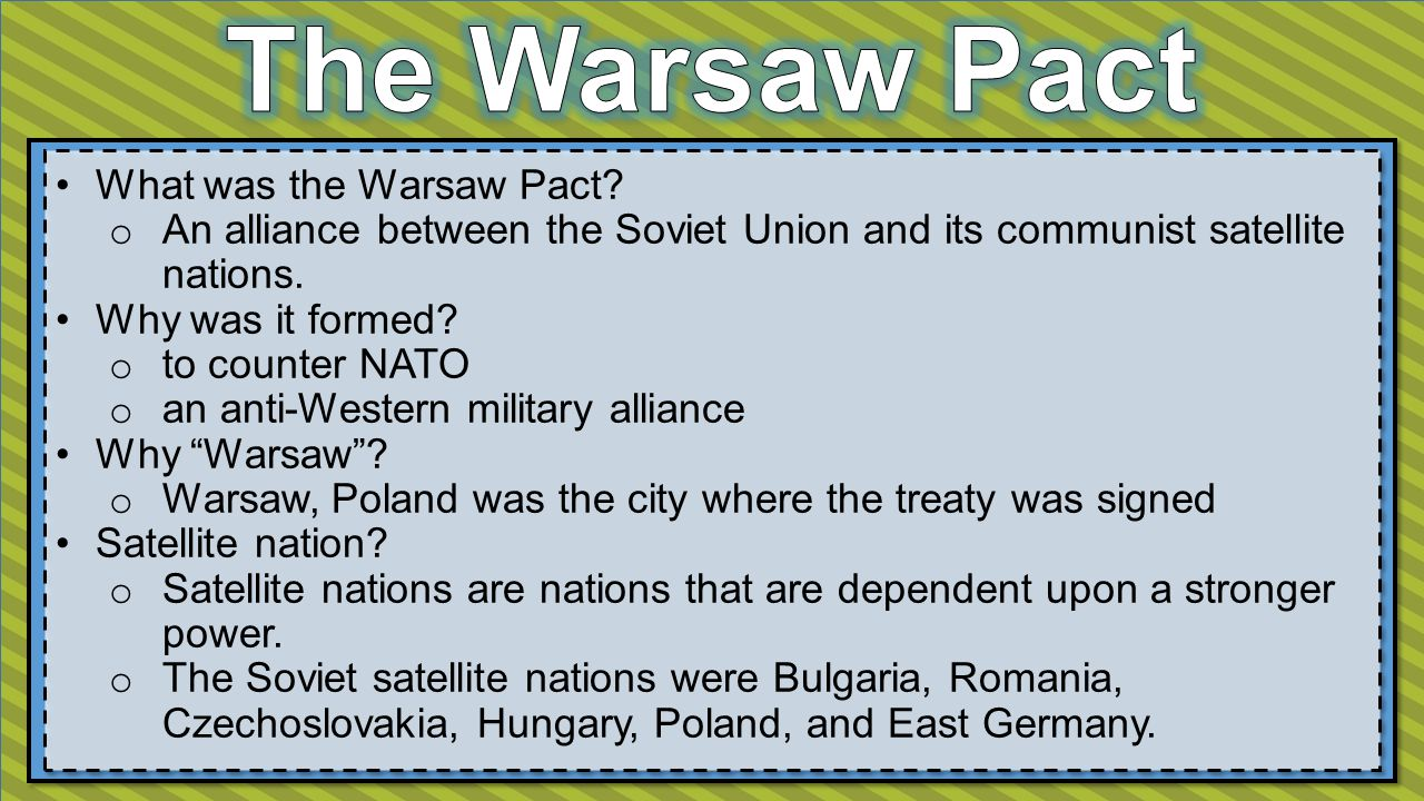 What was the Warsaw Pact.