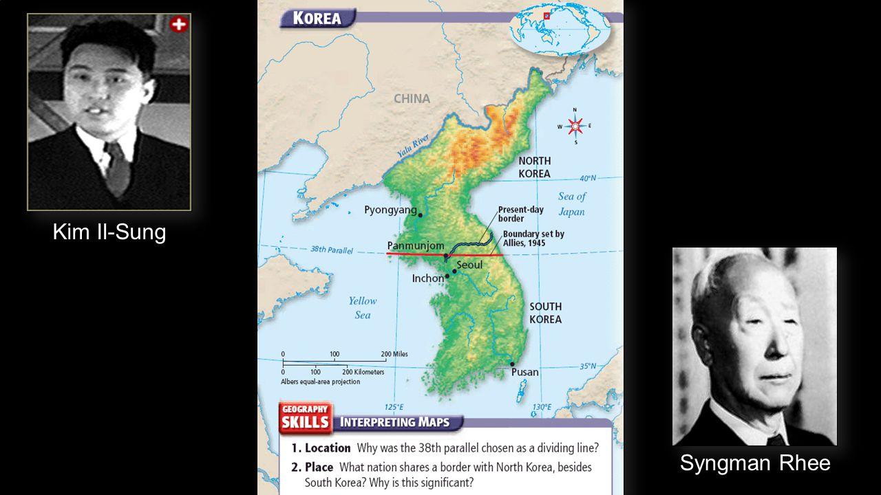 Kim Il-Sung Syngman Rhee