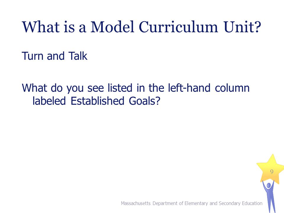 What is a Model Curriculum Unit.