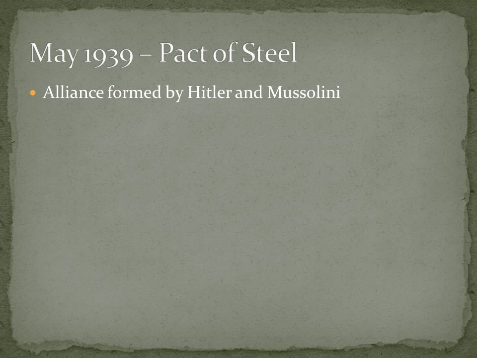 Alliance formed by Hitler and Mussolini