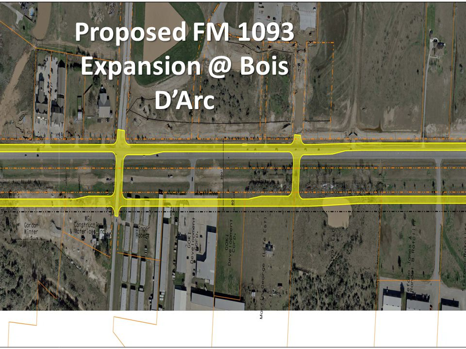 Proposed FM 1093 Expansion @ Bois D'Arc