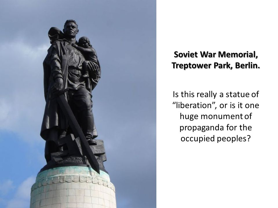 Soviet War Memorial, Treptower Park, Berlin. Soviet War Memorial, Treptower Park, Berlin.