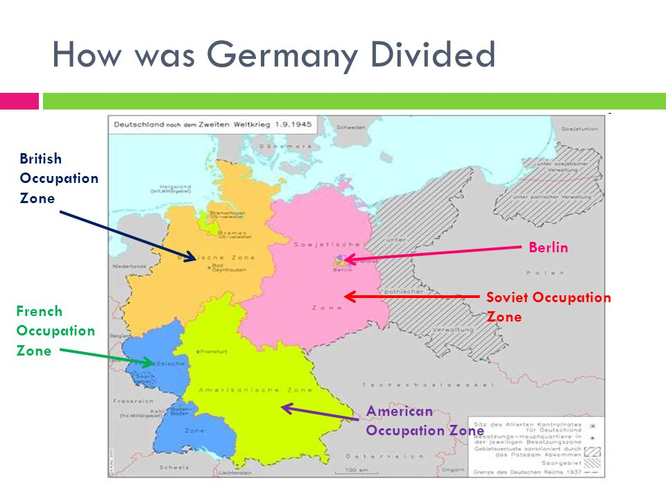 How was Germany Divided British Occupation Zone French Occupation Zone American Occupation Zone Soviet Occupation Zone Berlin