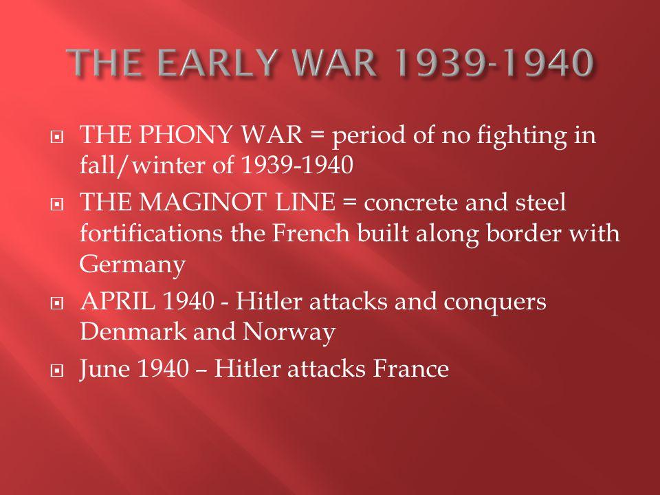 19421943 1.German forces advancing in N. Africa 2.
