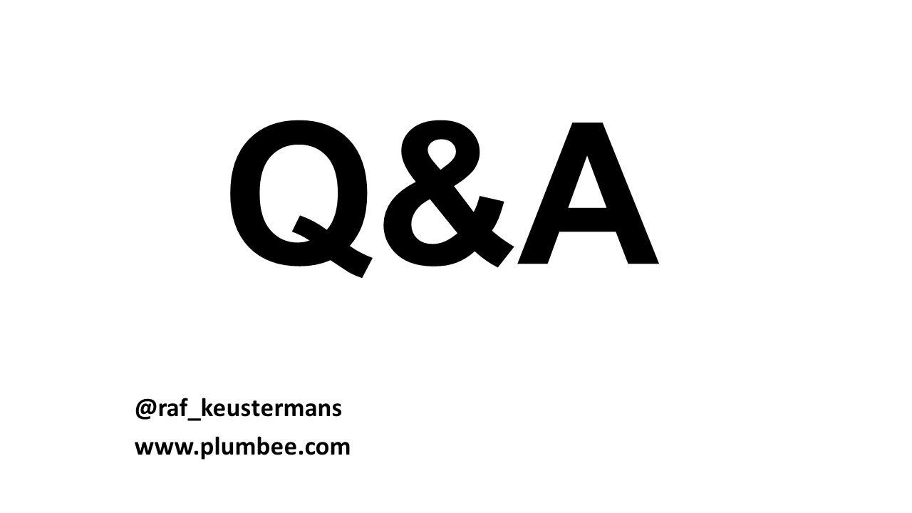 Q&A @raf_keustermans www.plumbee.com