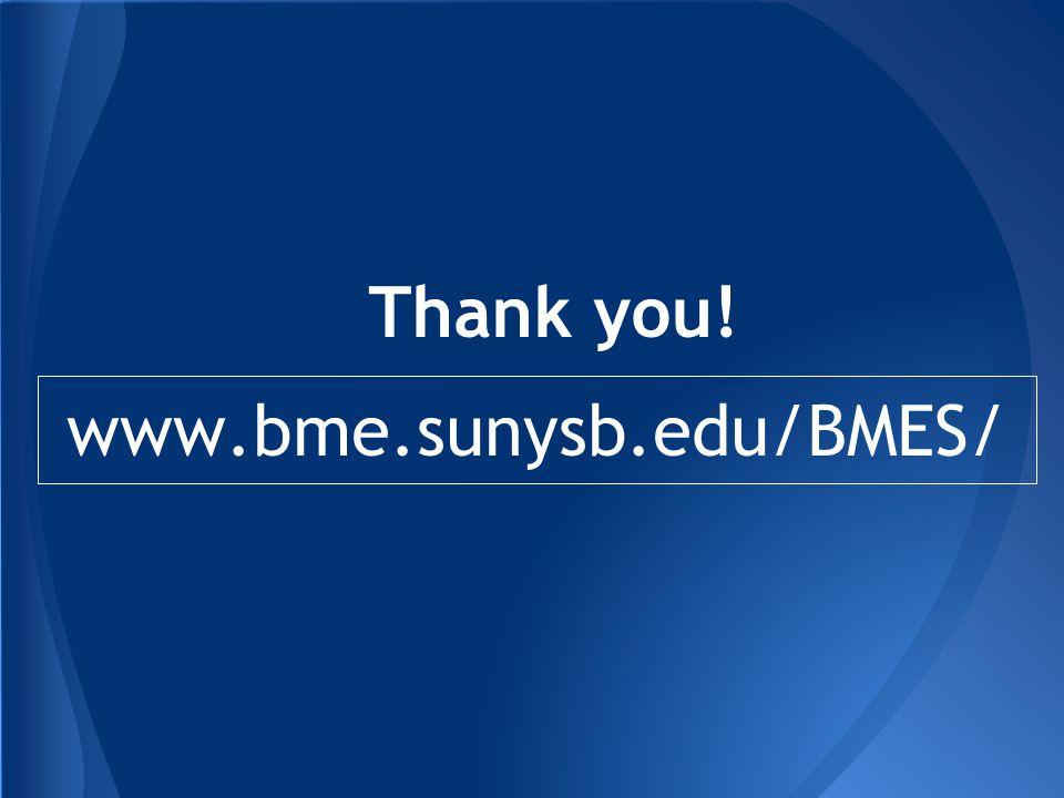 Thank you! www.bme.sunysb.edu/BMES/