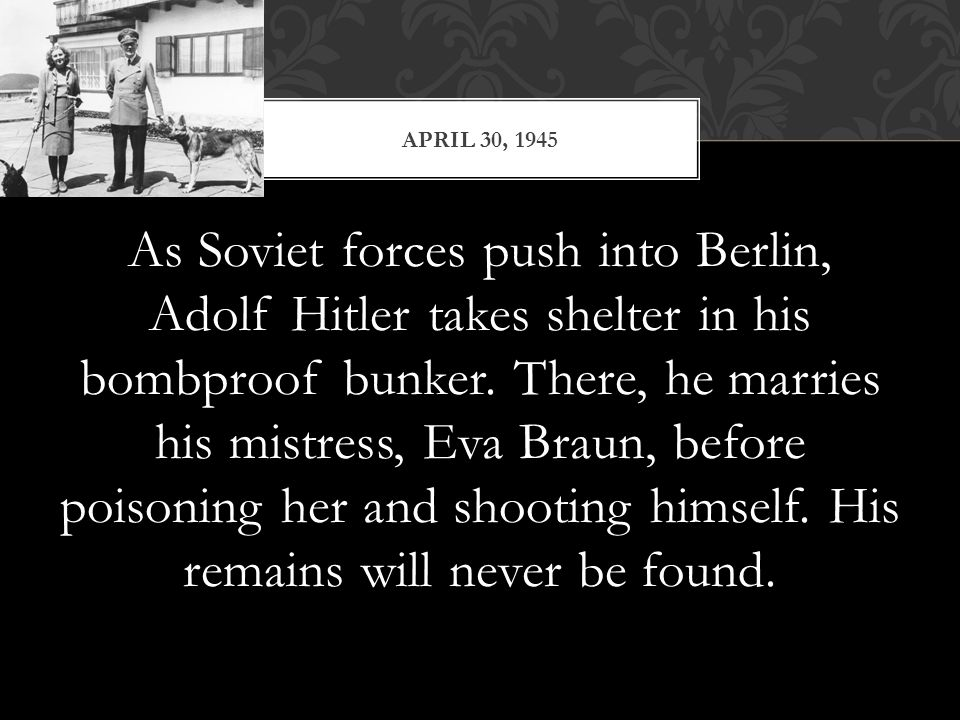 MAY 8- VE DAY