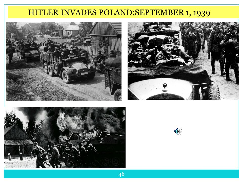 September 1, 1939 Germany and the USSR invaded Poland Britain and France declare war