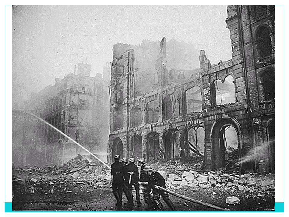 69 LONDON DOCKS BURN AFTER GERMAN RAID