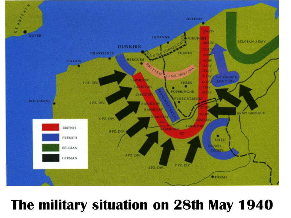 The military situation on 28th May 1940