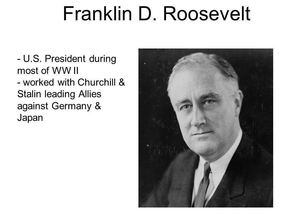 Franklin D. Roosevelt - U.S.