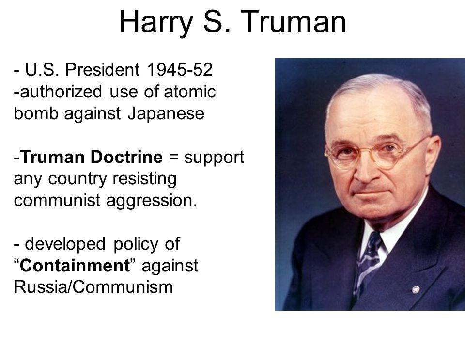 Harry S. Truman - U.S.