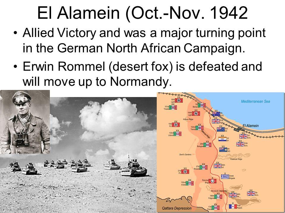 El Alamein (Oct.-Nov.