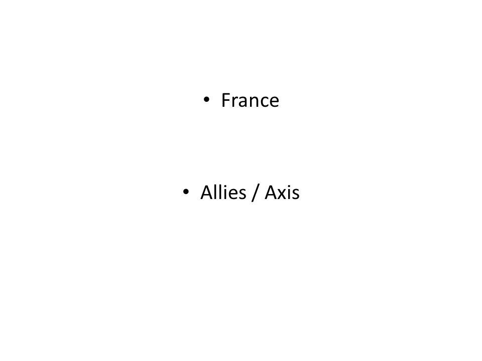 France Allies / Axis