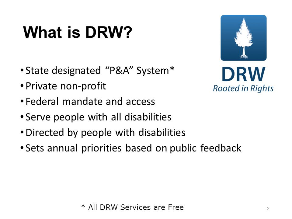 What is DRW.