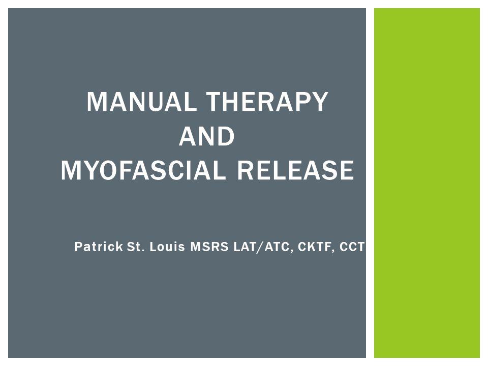  Direct Techniques  Manual therapy maneuvers that load or bind tissue and structures.