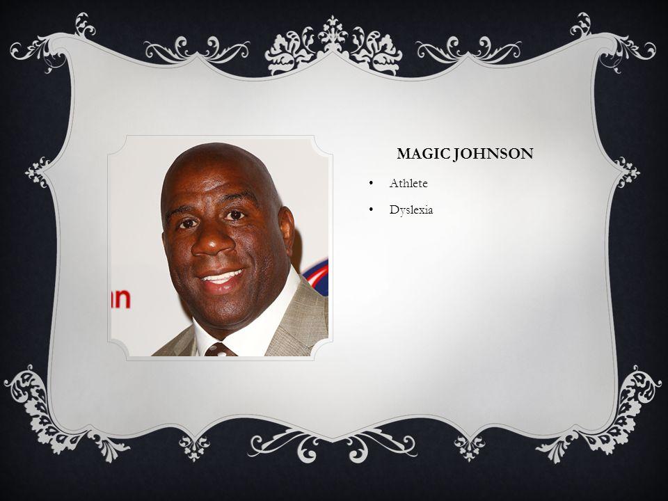 MAGIC JOHNSON Athlete Dyslexia