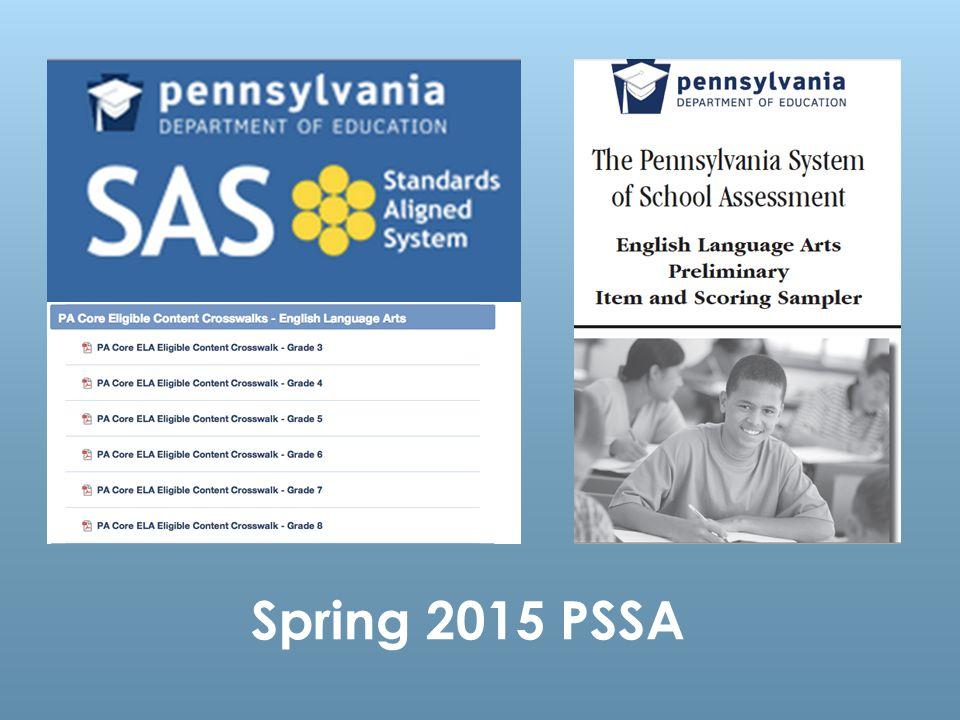 Spring 2015 PSSA