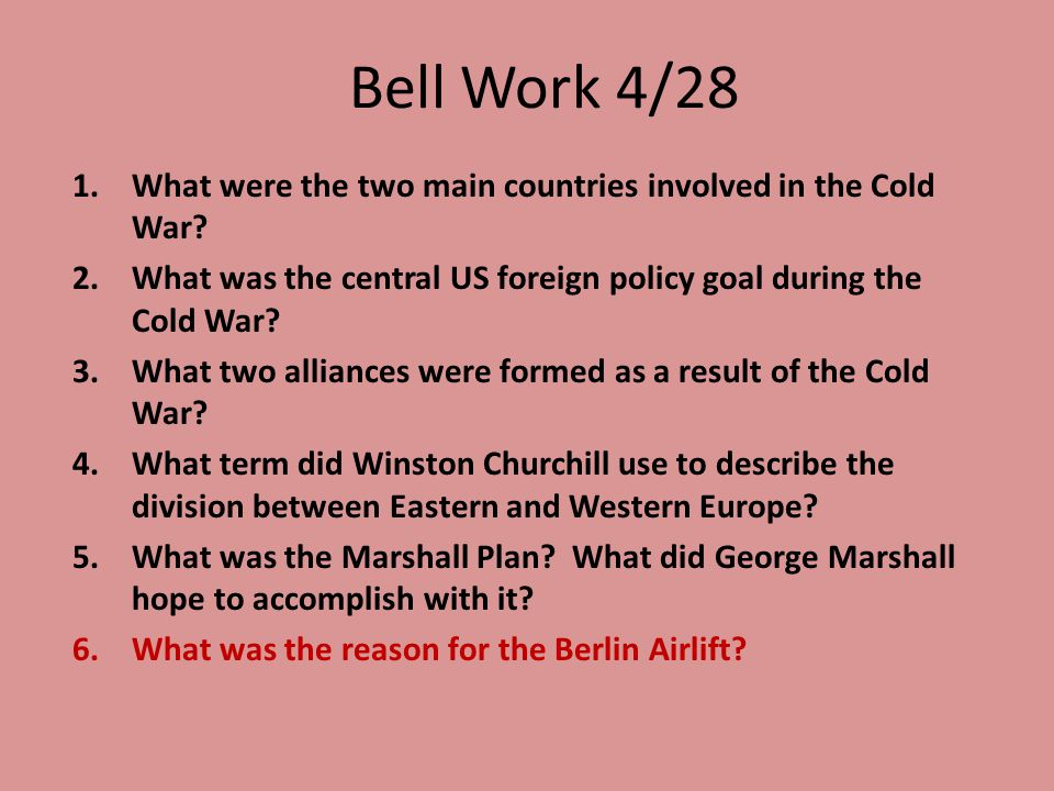 Bell Work 4/29 1.What serves as the dividing line between North Korea and South Korea.