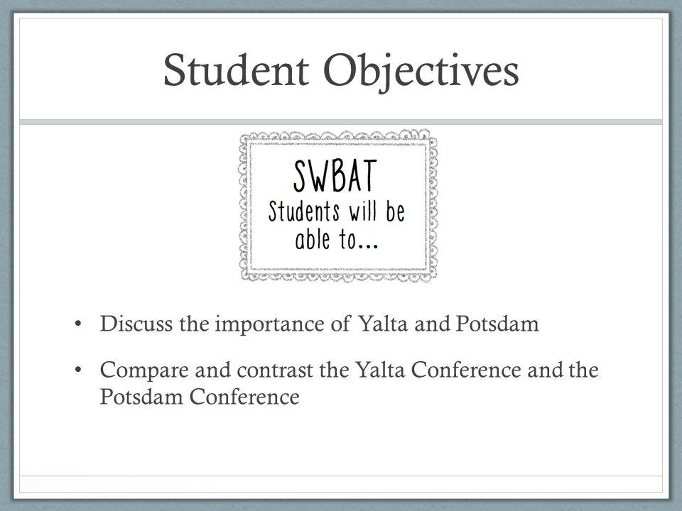 Potsdam Conference cont.