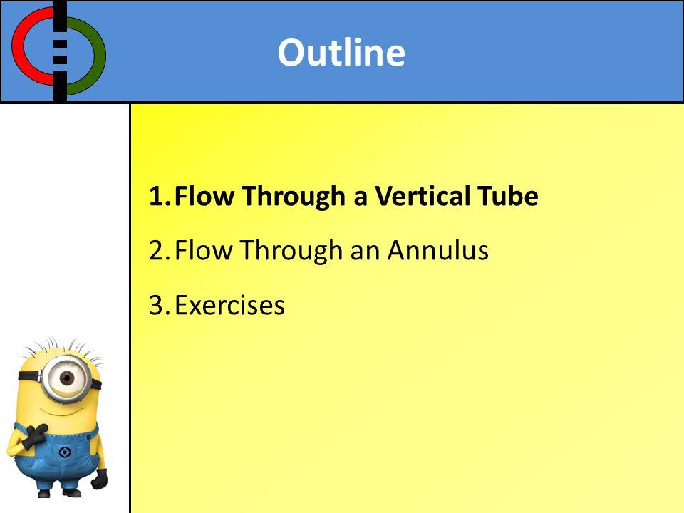 Outline 1.Flow Through a Vertical Tube 2.Flow Through an Annulus 3.Exercises