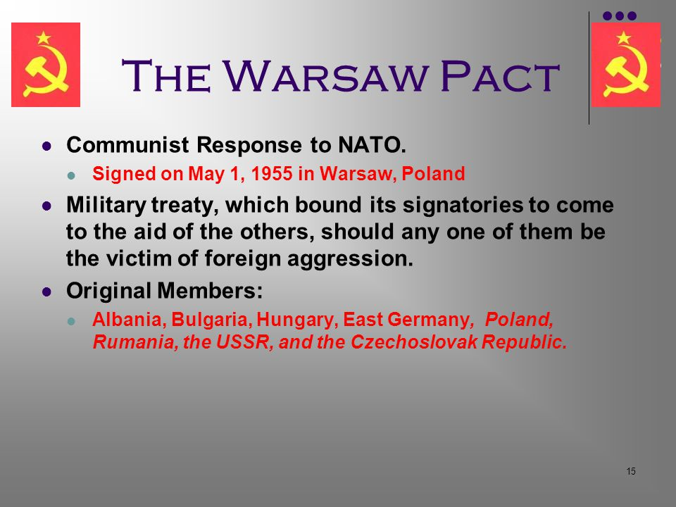 15 The Warsaw Pact Communist Response to NATO.